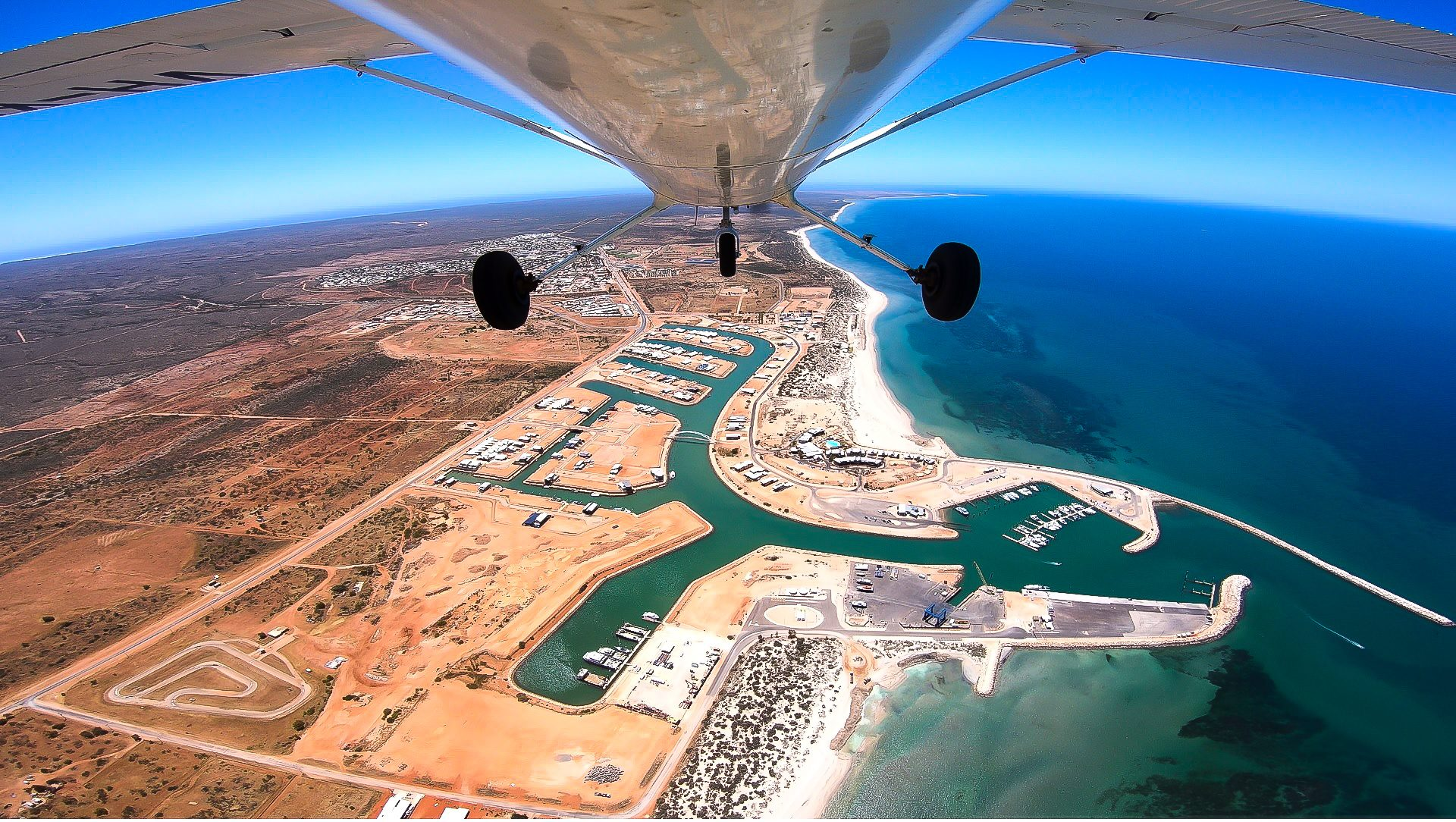 Scenic flight charter above Exmouth with Ningaloo Aviation