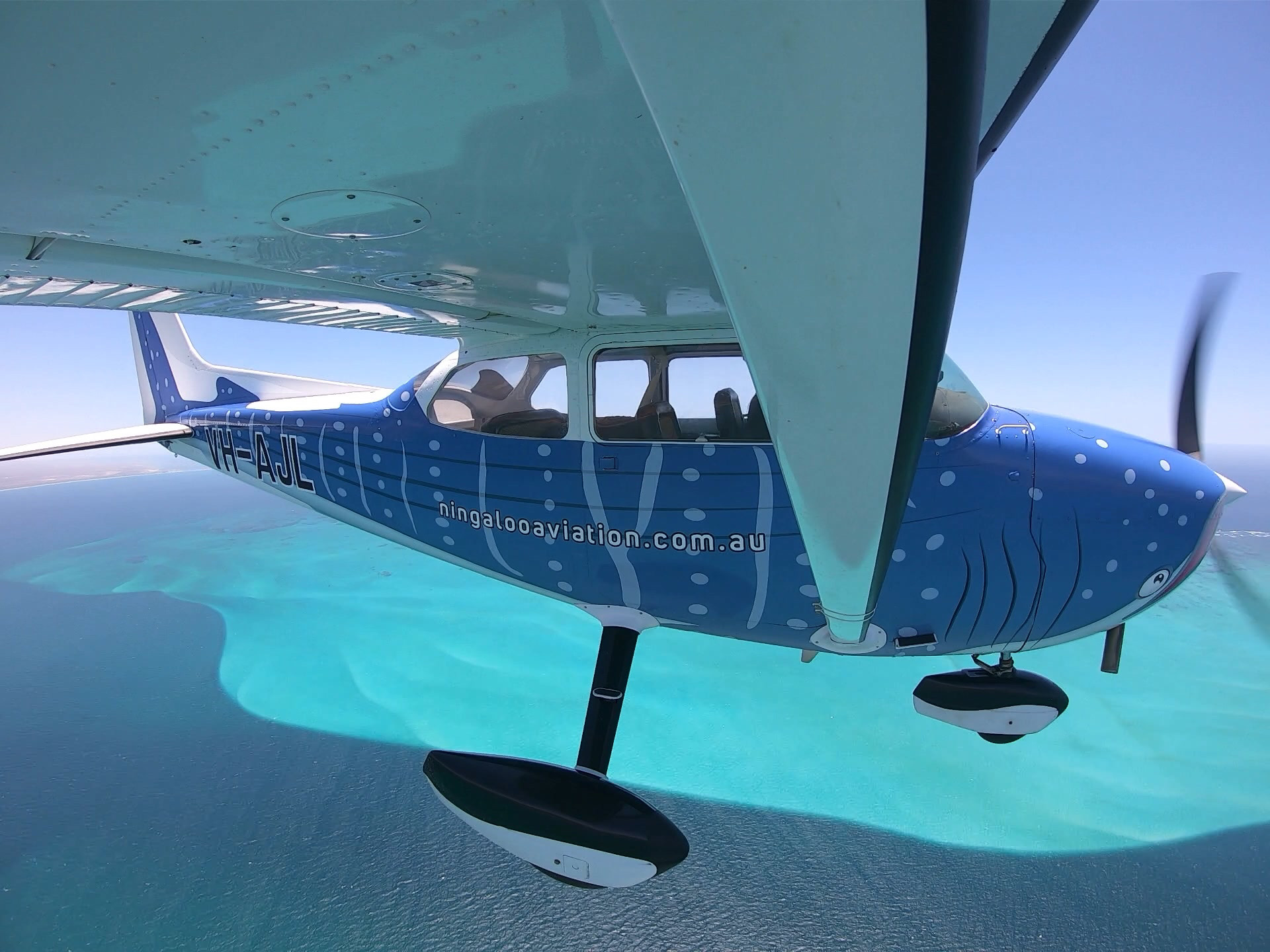 KrillSeeker flying over Ningaloo Coast